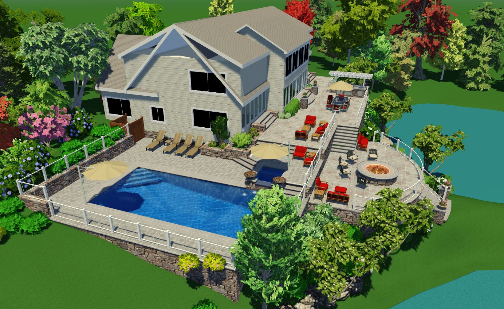 Dutchess County New York Landscape Architecture || Gibbs Pool Project |